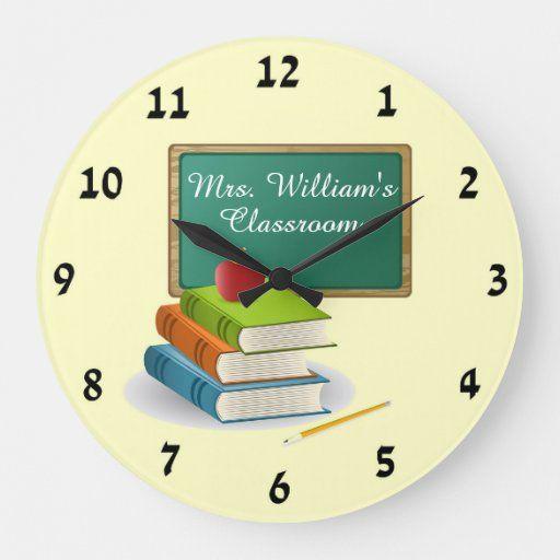 Teacher S Classroom Personalized Custom Wall Clock In 2020 Custom Wall Clocks Classroom Walls Wall Clock