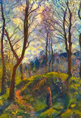 Camille Pissarro, Landscape with Big Trees  | Inexpensive art-prints and posters of Pissarro