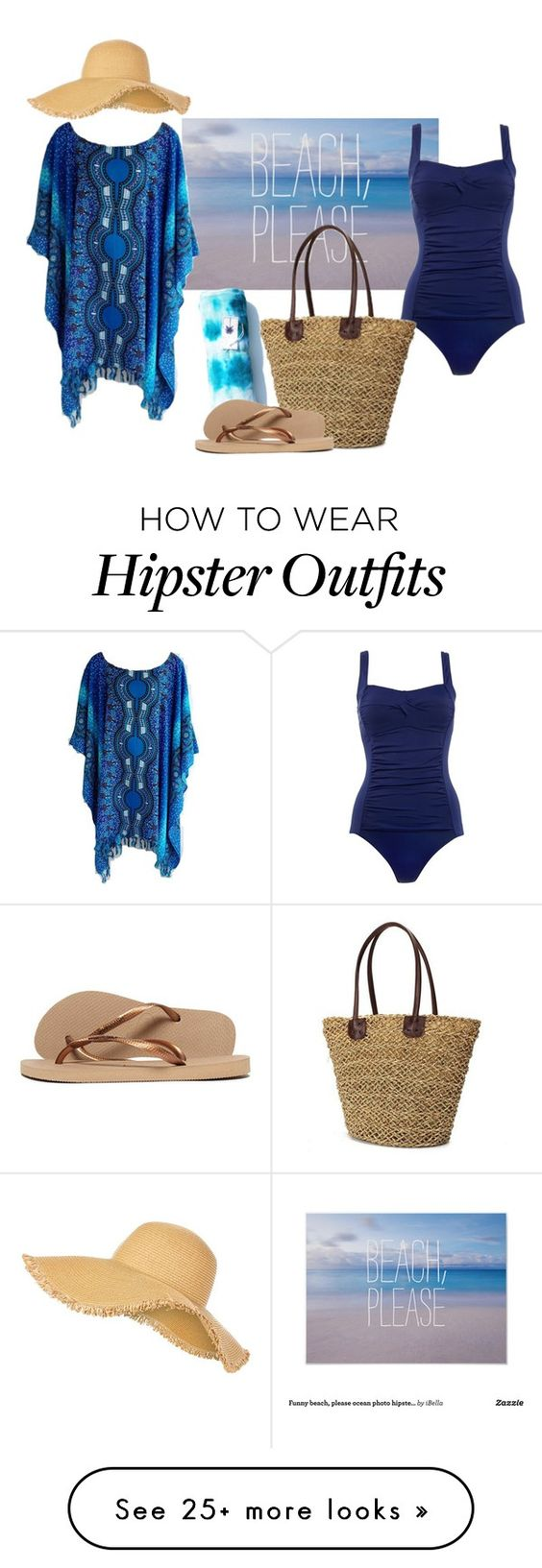 """Beach on a budget!"" by jnyaface on Polyvore featuring Marie Meili, New Look, Havaianas and coverups"