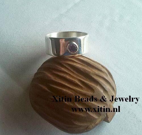 Ring met zirconia 925 zilver