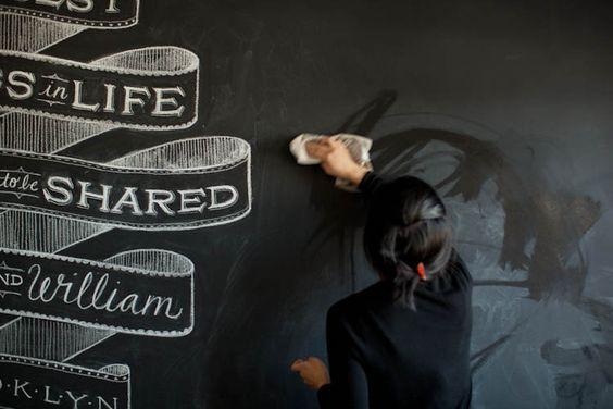 great chalkboard wall @Heleen Van Valckenborgh Boertje