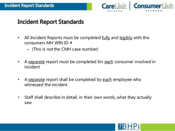 Write the report in third person  1st person I saw three guys - incident report example
