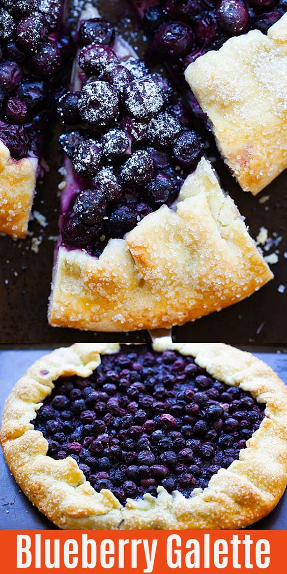 French Galette with Blueberries