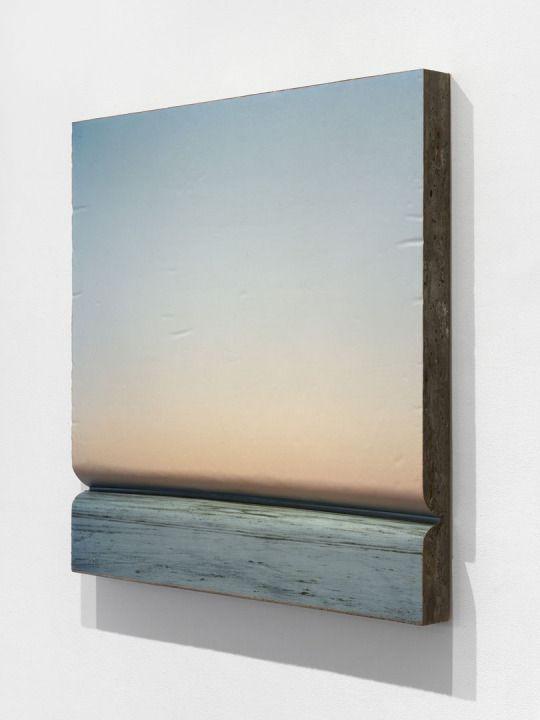 Letha Wilson, Salt Flats Concrete Fold, 2013,  C-print with UV laminate, concrete