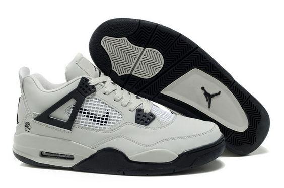 Discount 2013 NEWEST Air Jordan 4 Retro Mens Sneakers White Black On Sale  http://www.umjordanshoes.com/um8716.html