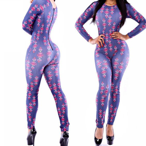 Women Rompers Jumpsuit Sexy Print Overall Club Bodysuits Bandage Jumpsuits  #nobrand #Jumpsuit