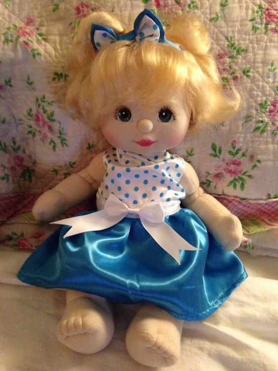Mattel My Child Doll Blonde Top Knot Adorable!