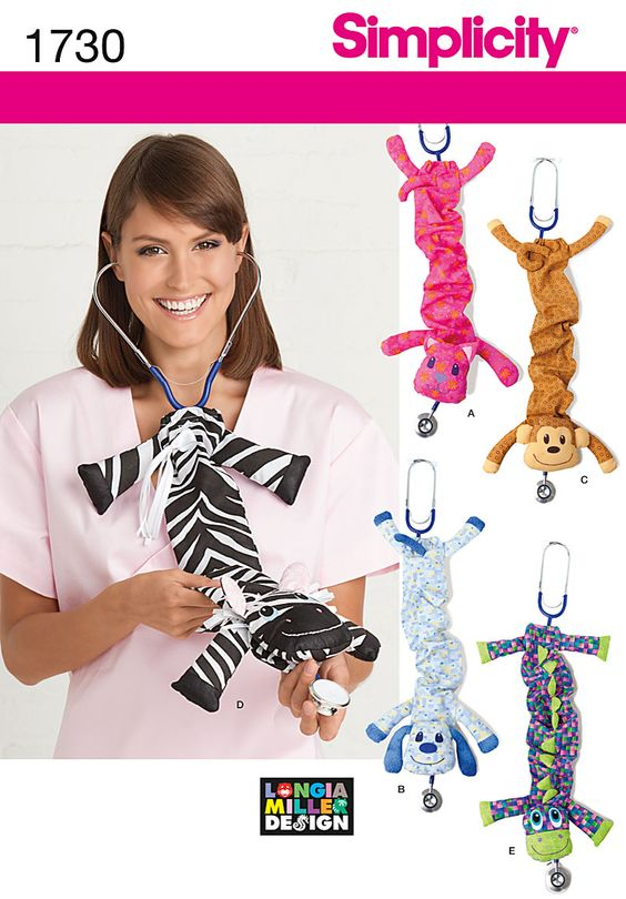 Simplicity Creative Group - Stethoscope Covers - I don't want the zebra but any of the others is cute :)