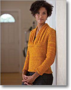 Ginevra's pullover, dramatic neckline.: