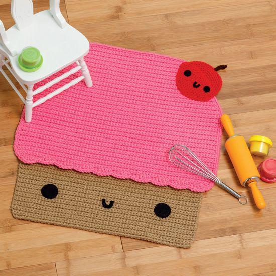 Amigurumi At Home - Crochet Cupcake Rug - LOVE, LOVE, LOVE this!!  So making one!