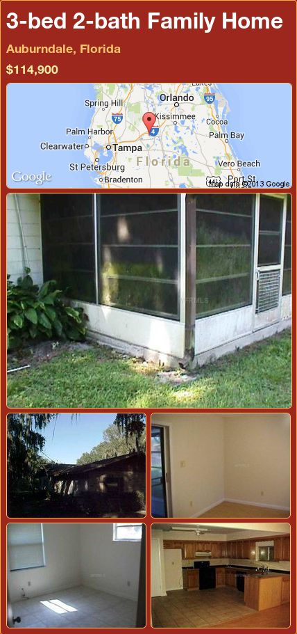 3-bed 2-bath Family Home in Auburndale, Florida ►$114,900 #PropertyForSale #RealEstate #Florida http://florida-magic.com/properties/90821-family-home-for-sale-in-auburndale-florida-with-3-bedroom-2-bathroom