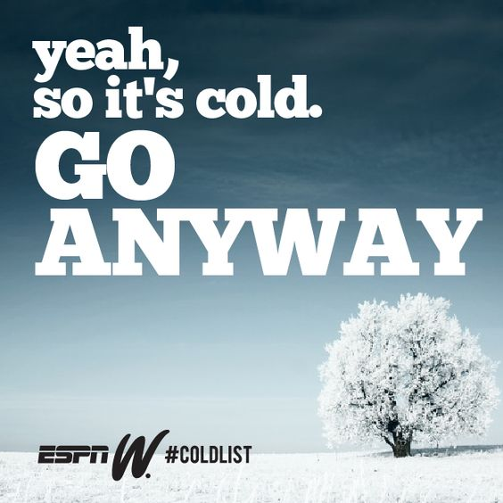 Don't let the weather keep you from getting your sweat on!  @espnW