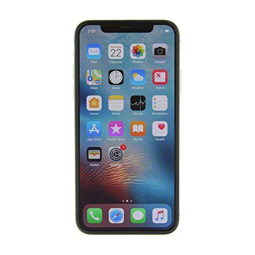 Apple Iphone X Fully Unlocked 64gb Silver Renewed Iphone Apple Iphone Unlocked Cell Phones