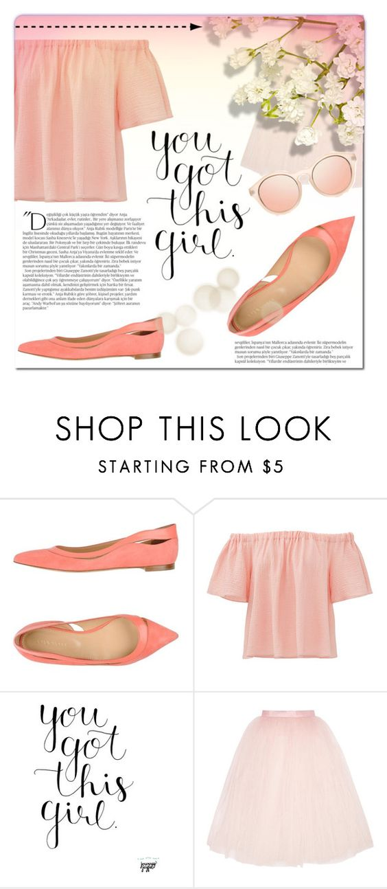 """Your got this"" by elisapar ❤ liked on Polyvore featuring Sergio Rossi, Rebecca Taylor, Ballet Beautiful and Balmain"