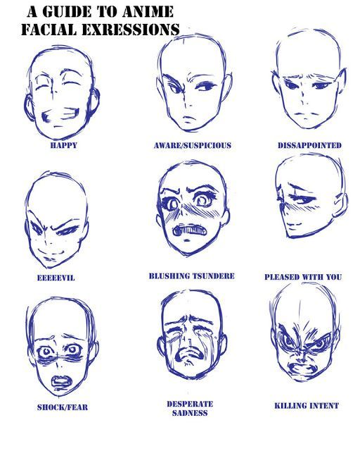 A Reference On Drawing Chibi Faces 3 Anime Expressions Drawing