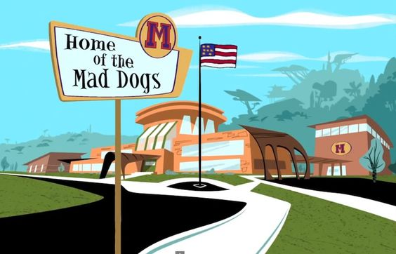 Kim Possible and Ron Stoppable had the privilege of attending Middleton High School, Home of the Mad Dogs.