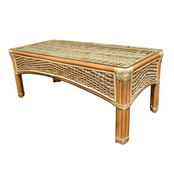 Spice Island Wicker Coffee Table | from hayneedle.com