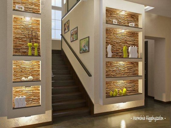 Shelves 25 Very Cool Ideas For Wall Shelving Decorated Life Home Interior Design Staircase Design House Design