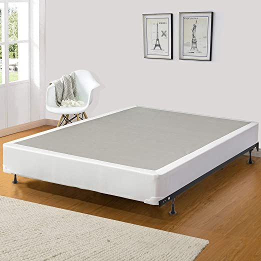 Spring Solution 8 Inch Fully Assembled Wood Traditional Box Spring Foundation For Mattress Full Xl Size In 2020 Quality Mattress Mattress Box Springs Mattress