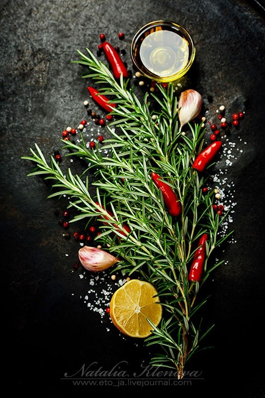 Bunch of spices - Bunch of spices on dark vintage background. Cooking, vegetarian food or health concept.