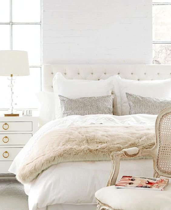 Interior   Bedroom - House tour: A white and gold Christmas morning - Style At Home