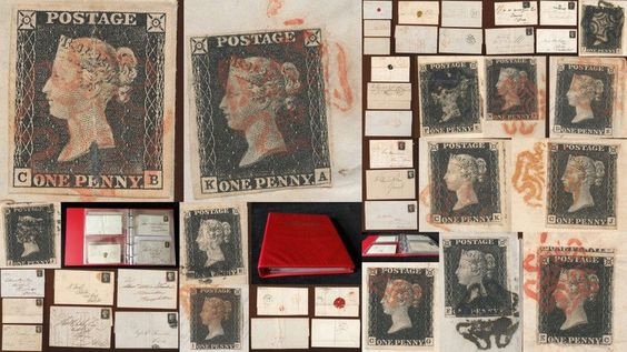 GB QV 1840 1d Penny Blacks on 14 Covers Penny Post Watchet Taunton Exeter(AB365