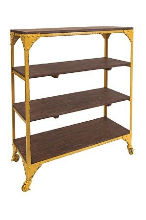 from General Eclectic, yellow iron shelves, great for displaying  storing ornaments, books, dinnerware  more.