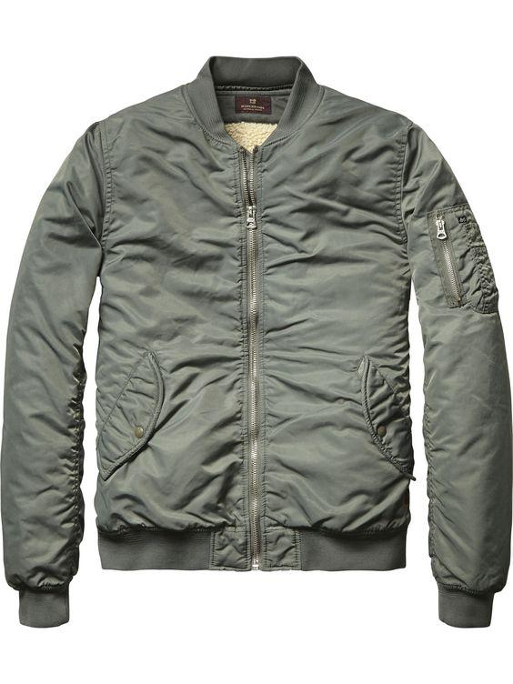 Classic Bomber Jacket | Jackets | Men's Clothing at Scotch & Soda ...