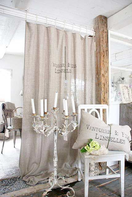 Burlap curtain. | White | Pinterest | Burlap Curtains ...