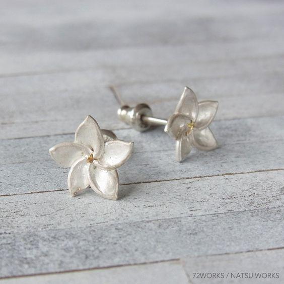 Plumeria Earringの画像3枚目
