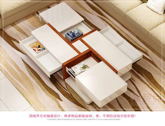米莱克家具 伸缩多功能创意茶几简约现代烤漆客厅小户型-淘宝网