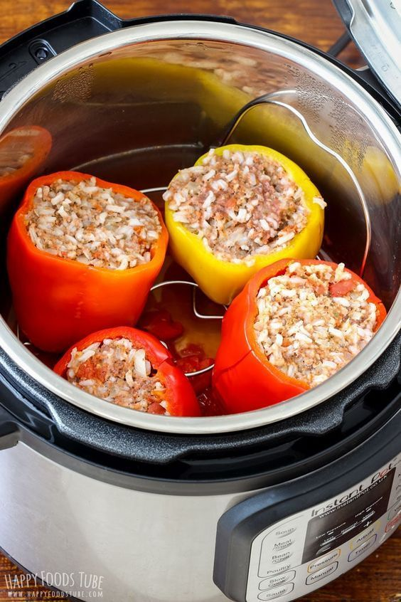 Instant Pot Stuffed Bell Peppers Pressure Cooker Stuffed Bell Peppers Recipe Easy Instant Pot Recipes Instant Pot Dinner Recipes Stuffed Peppers