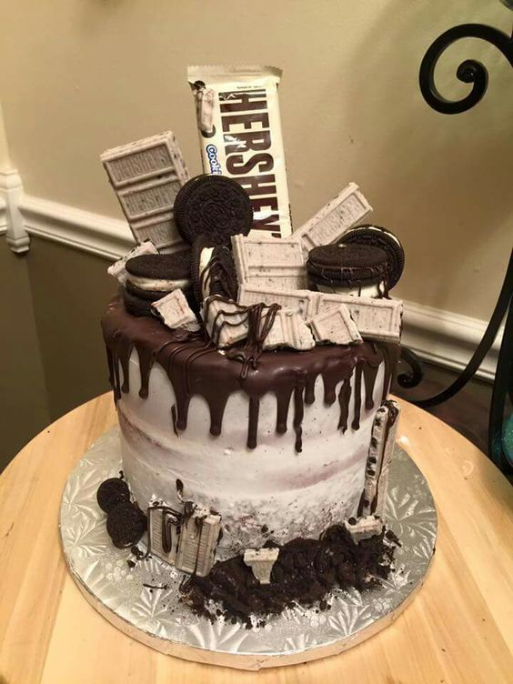 Best Cake Design For Boyfriend : Cookies and cream cake, Cookies and cream and Cream cake ...