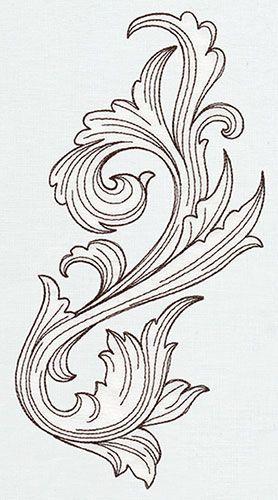 Miniature Menagerie Engraved Flourish design (UT6543) from UrbanThreads.com::