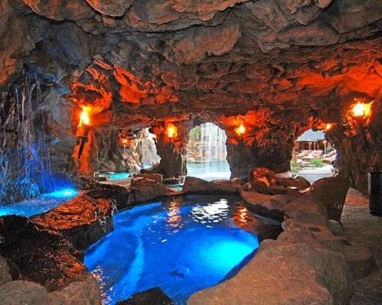photos guess which hip hop star bought this party pad house backyard and swimming pools - Cool Pools With Caves