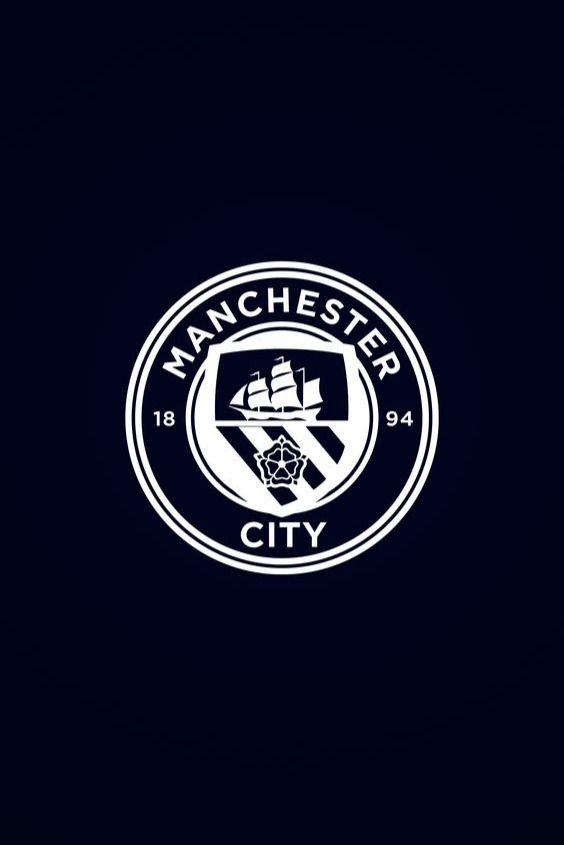 Man City White Logo Hd Wallpaper Manchester City Wallpaper Manchester City Logo Manchester City