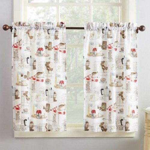 8 Adorable Coffee Themed Kitchen Curtains Under $40.00 ...