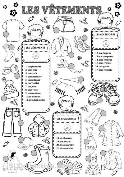 vocabulary worksheets and french on pinterest. Black Bedroom Furniture Sets. Home Design Ideas