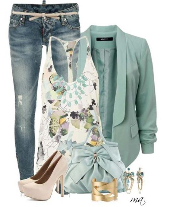 Blah blah blah lashay doesn't wear heels; I LOVE this outfit! The top is sooo pretty and I love that green color! just don't care for the purse though and i don't do earrings