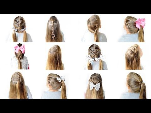12 Easy Heatless School Hairstyles Quick And Easy Hairstyles Youtube Hair Styles Easy Hairstyles For Kids Easy Work Hairstyles