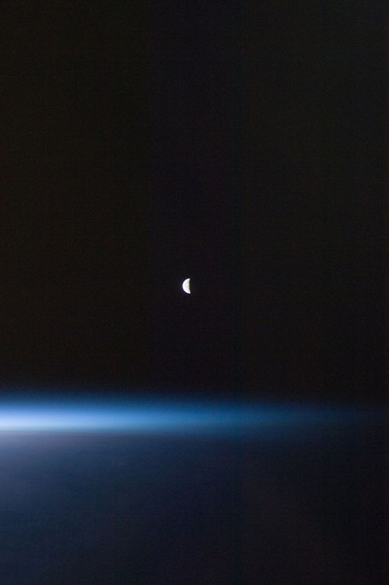Last Quarter Moon (NASA, International Space Station, 08/22/11) (by NASA's Marshall Space Flight Center)