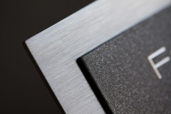 Edelstahl Türklingel mit LED Klingeltaste - Farbe Grau DB 703, 3