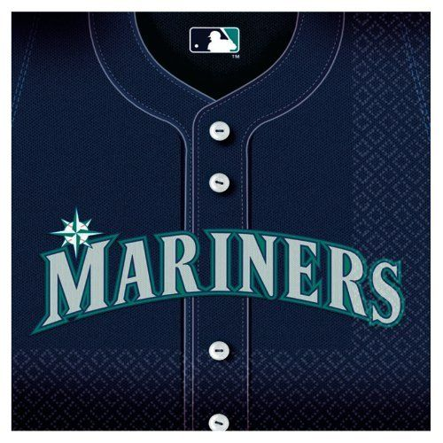 Seattle Mariners Baseball - Beverage Napkins Party Accessory by Amscan. $15.04. Package includes (36) beverage napkins.. Save 24% Off!