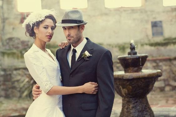 groom hat trends - retro style trilby