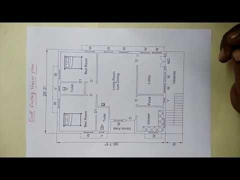 East Facing House Plan As Par Vastu Sq Ft 1204 15 In Ankanams 16 72 Youtube 2bhk House Plan Indian House Plans How To Plan