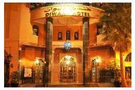 L'Hôtel Diwane est un luxueux établissement appartenant à la catégorie 4 étoiles.  Il dispose de 105 chambres et 10 suites, toutes équipées d'une salle de bain et des commodités d'usage.