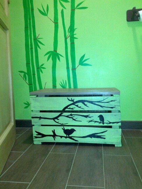 coffre avec caisse a pomme et palette projets pinterest. Black Bedroom Furniture Sets. Home Design Ideas