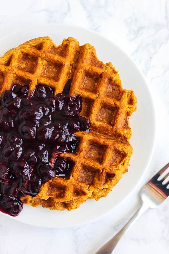 ... potatoes potato waffles gluten free blueberries sauces sweet potato