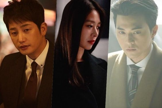 "Park Shi Hoo, Jang Shin Young, And Kim Ji Hoon Get Intense In ""Tower Of Babel"""