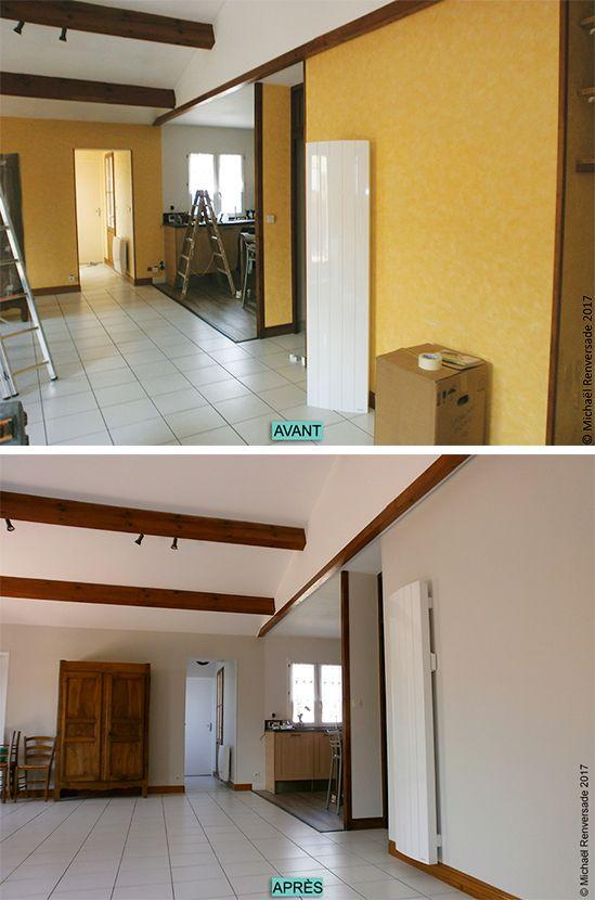 Rafraîchissement des murs et plafond Lessivage des poutres
